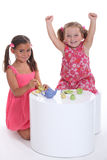 Little girls playing Royalty Free Stock Photos