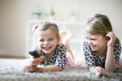 Smiling little girls. royalty free stock image