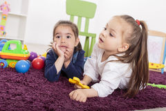 Little girls in room Royalty Free Stock Photography