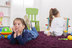 Little girls in the room Royalty Free Stock Image