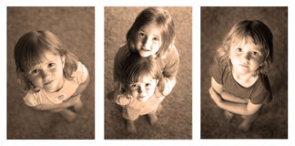 Little Girls Sequence Photograph Stock Photos
