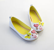 Little girls shoes Royalty Free Stock Photos