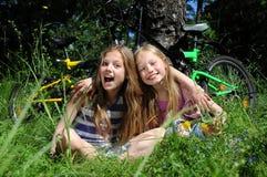 Little girls smiling Royalty Free Stock Photo
