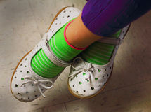 Cute Play Shoes Royalty Free Stock Images