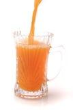 Little glass full orange juice Stock Photography
