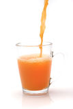 Little glass with orange juice Royalty Free Stock Image