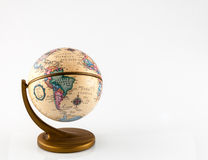 Little globe on colored background Stock Images