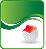 Little Golf Ball with visor. Little golf ball wearing a visor Stock Photography