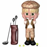 Little Golf Player - Toon Figure Stock Images