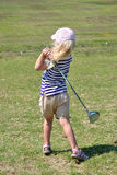 Little Golfer Royalty Free Stock Image