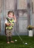 Little Golfer Stock Image
