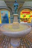 Little Goose-Man Fountain in Lucerne Stock Photos