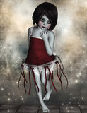 Little gothic girl Royalty Free Stock Images
