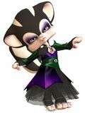 Little Gothica-Toon Figure Royalty Free Stock Photos