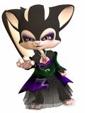 Little Gothica-Toon Figure Stock Photo