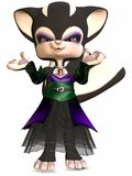 Little Gothica-Toon Figure Royalty Free Stock Photography
