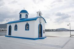 Little Greek Church Stock Photo