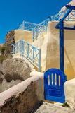 Little Greek house gate in Santorini Royalty Free Stock Photos