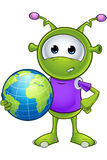 Little Green Alien Royalty Free Stock Image