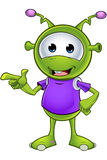 Little Green Alien Royalty Free Stock Photos