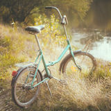 Little green bicycle Royalty Free Stock Photos