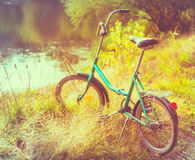 Little green bicycle Royalty Free Stock Photo