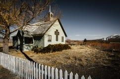 Little Green Church in Eastern Sierra Royalty Free Stock Photography