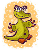 Little green crocodile Stock Images