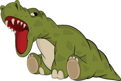 Little green dragon. Cartoon Royalty Free Stock Photo