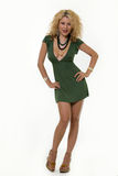 Little green dress stock photography