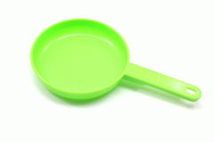 Little Green Frying Pan Stock Photo