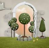 Little green garden Stock Images