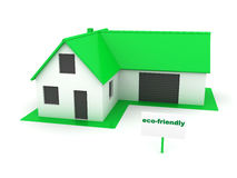 Little green house eco-friendly Stock Photo