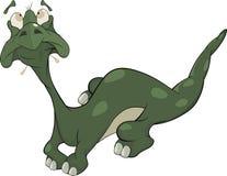 Little green lizard. Cartoon Royalty Free Stock Photography