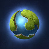 Little green planet Royalty Free Stock Images