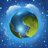 Little green planet Stock Images
