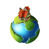 Little green planet Stock Photography