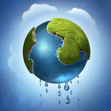 Little green planet Royalty Free Stock Photos