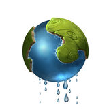 Little green planet Royalty Free Stock Image