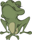 The little green toad Stock Image