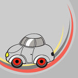 Little grey car Royalty Free Stock Photography