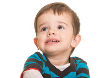 Little grimaced kid Stock Photo