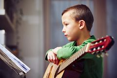 Little guitarist Royalty Free Stock Image