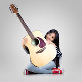 Little guitarist Royalty Free Stock Photography