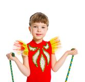 Little gymnast Royalty Free Stock Photo