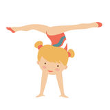 Little gymnast girl character Stock Photos
