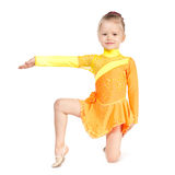 Little gymnast girl Royalty Free Stock Photography