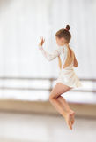 Little gymnast jumping Stock Photography