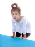 Little gymnast Royalty Free Stock Image