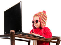 Little hacker Stock Photo